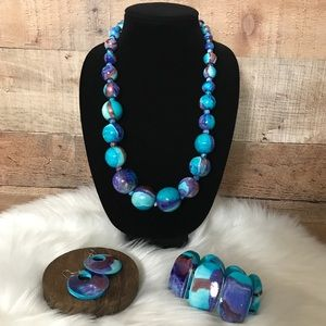 Wooden Beaded Jewelry Set